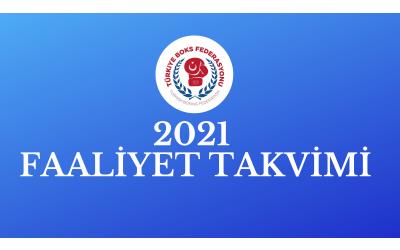 2021 FAALİYET TAKVİMİ
