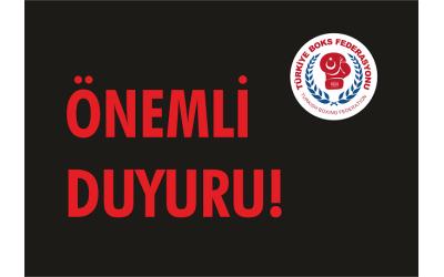 TÜM ANTRENÖRLERİMİZİN DİKKATİNE!
